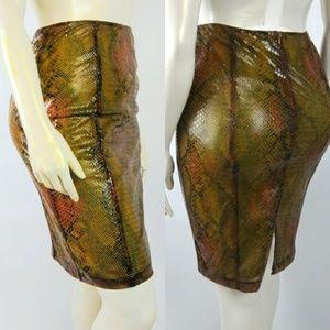 RARE! BETSEY JOHNSON Medium Animal Textured Skirt